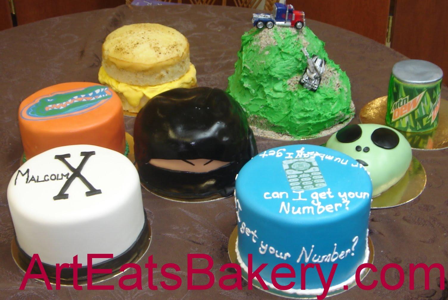 Astonishing Eight Tiny Specialty Cakes For A Special Guy Arteatsbakery Funny Birthday Cards Online Kookostrdamsfinfo