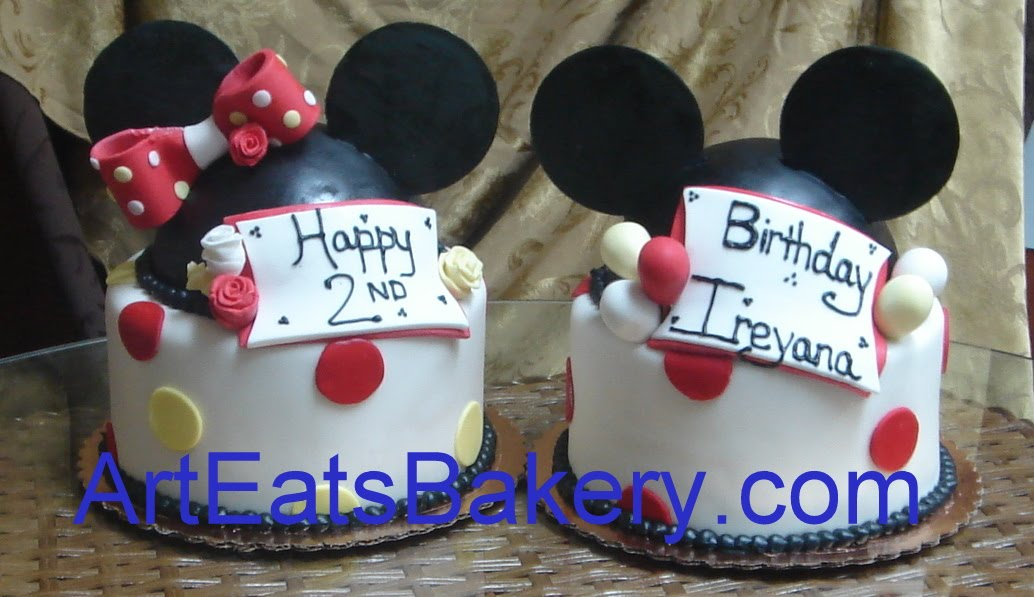 Young kids birthday cakes by Art Eats Bakery arteatsbakery