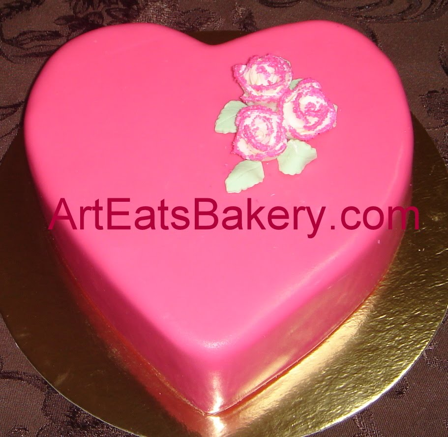 Valentines fondant heart cake special - 135.5KB
