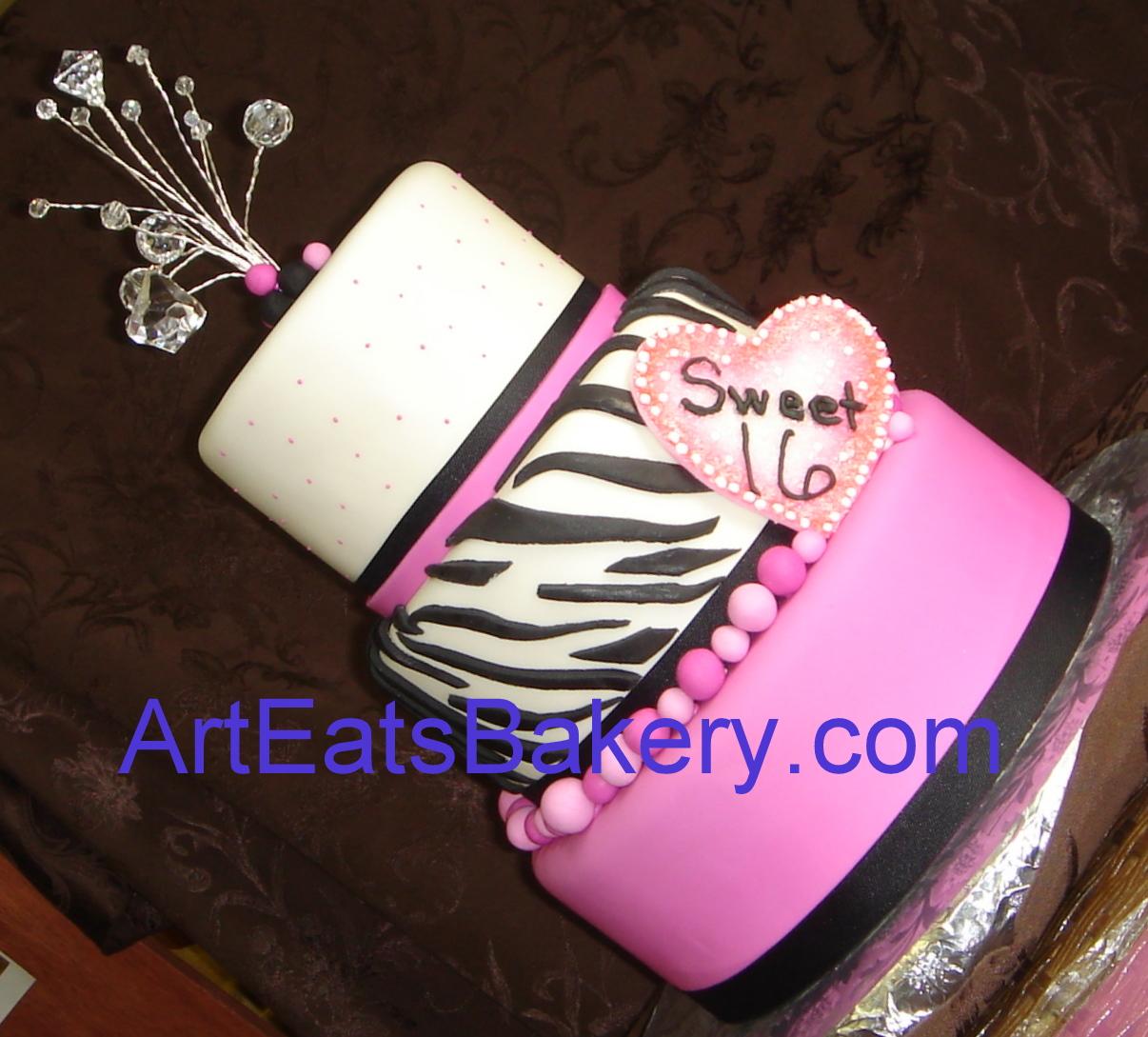 fondant birthday cakes for ladies