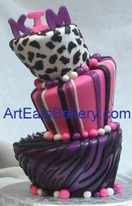 ... fondant birthday cakes for women and young ladies  arteatsbakery
