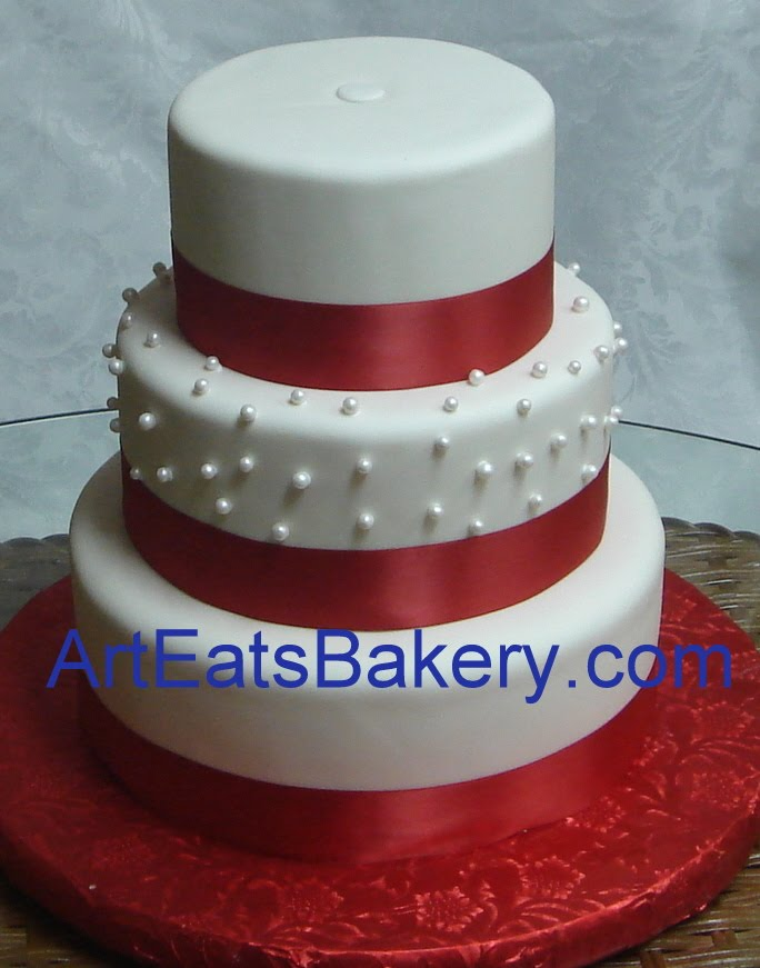 Cake Art White Chocolate Fondant : December round fondant wedding cake designs by Art Eats ...