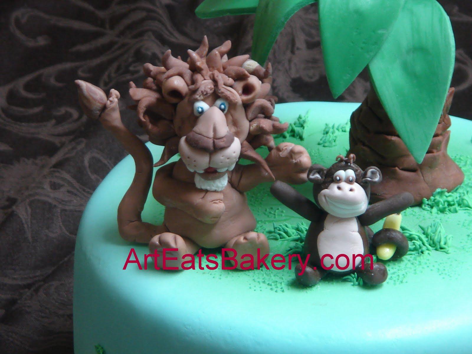 Pin Fondant Jungle Set Cake Toppers Lion Monkey Elephant
