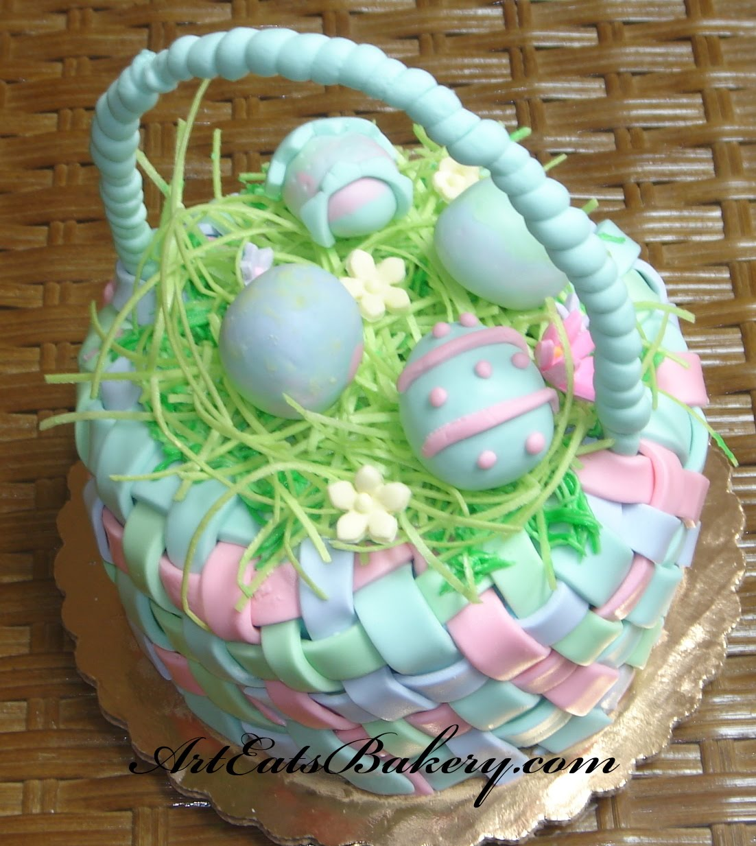 Fondant Easter Cakes By Art Eats Bakery