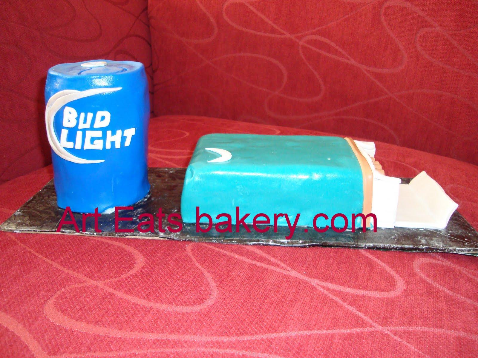 Fantastic 3D Bud Light Beer Can And Newports Birthday Cake Arteatsbakery Funny Birthday Cards Online Elaedamsfinfo