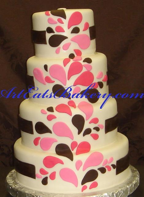 Cake Designs Birthday 2018 : Contemporary custom wedding cake designs arteatsbakery