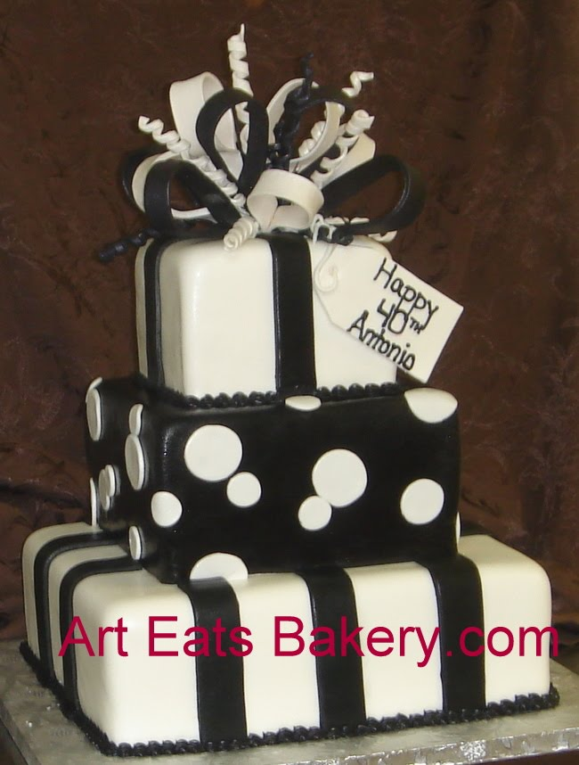 Birthday Cake Pictures Black And White : arteatsbakery Custom designed artistic cake pictures ...