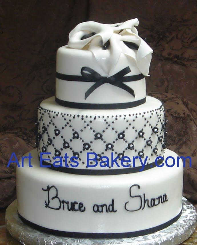 Diamond Pattern Fondant Cake Wedding