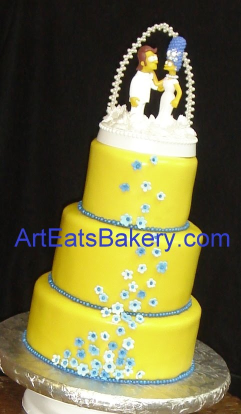 Custom artist designed fondant wedding cakes | arteatsbakery