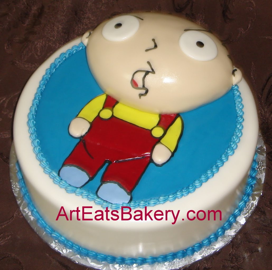 Family Guy Stewie custom fondant birthday cake arteatsbakery