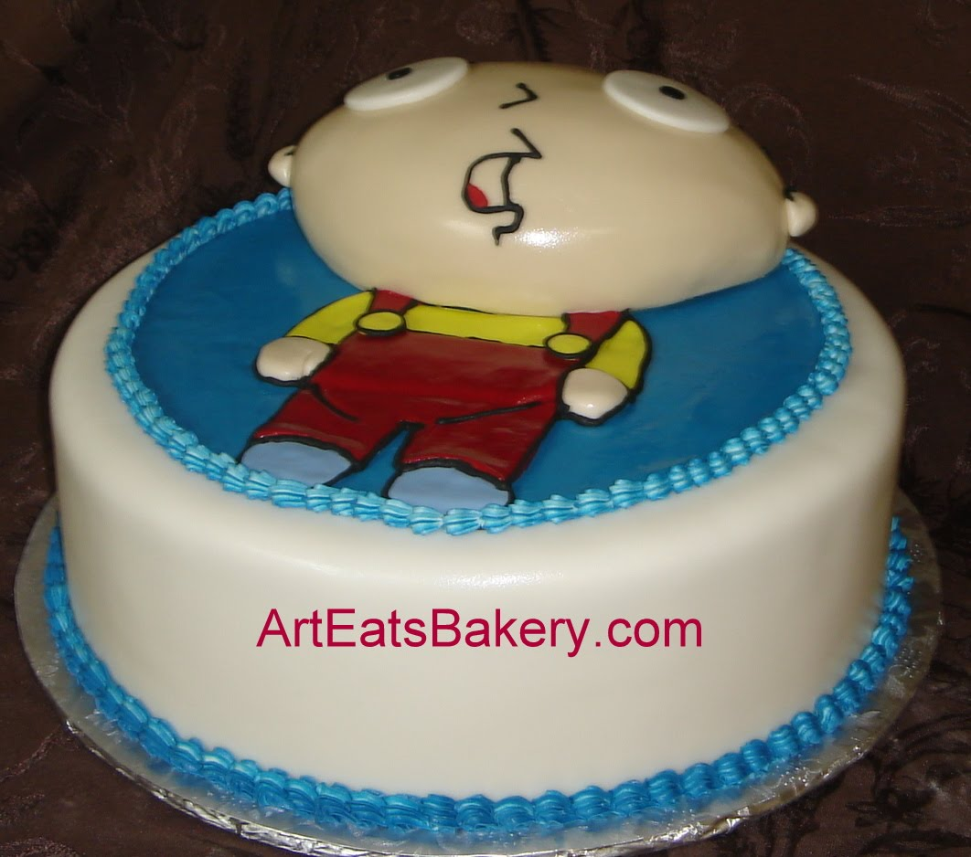 Family Guy Stewie Custom Fondant Birthday Cake