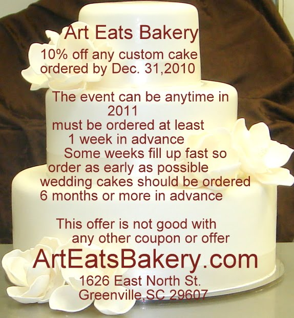 Art Eats Bakery discount coupon for wedding or Groom s ...