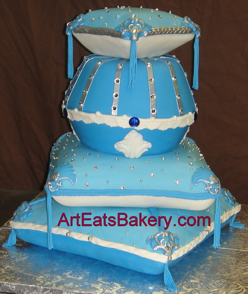... birthday cake. The corners have baroque details and fondant tassels