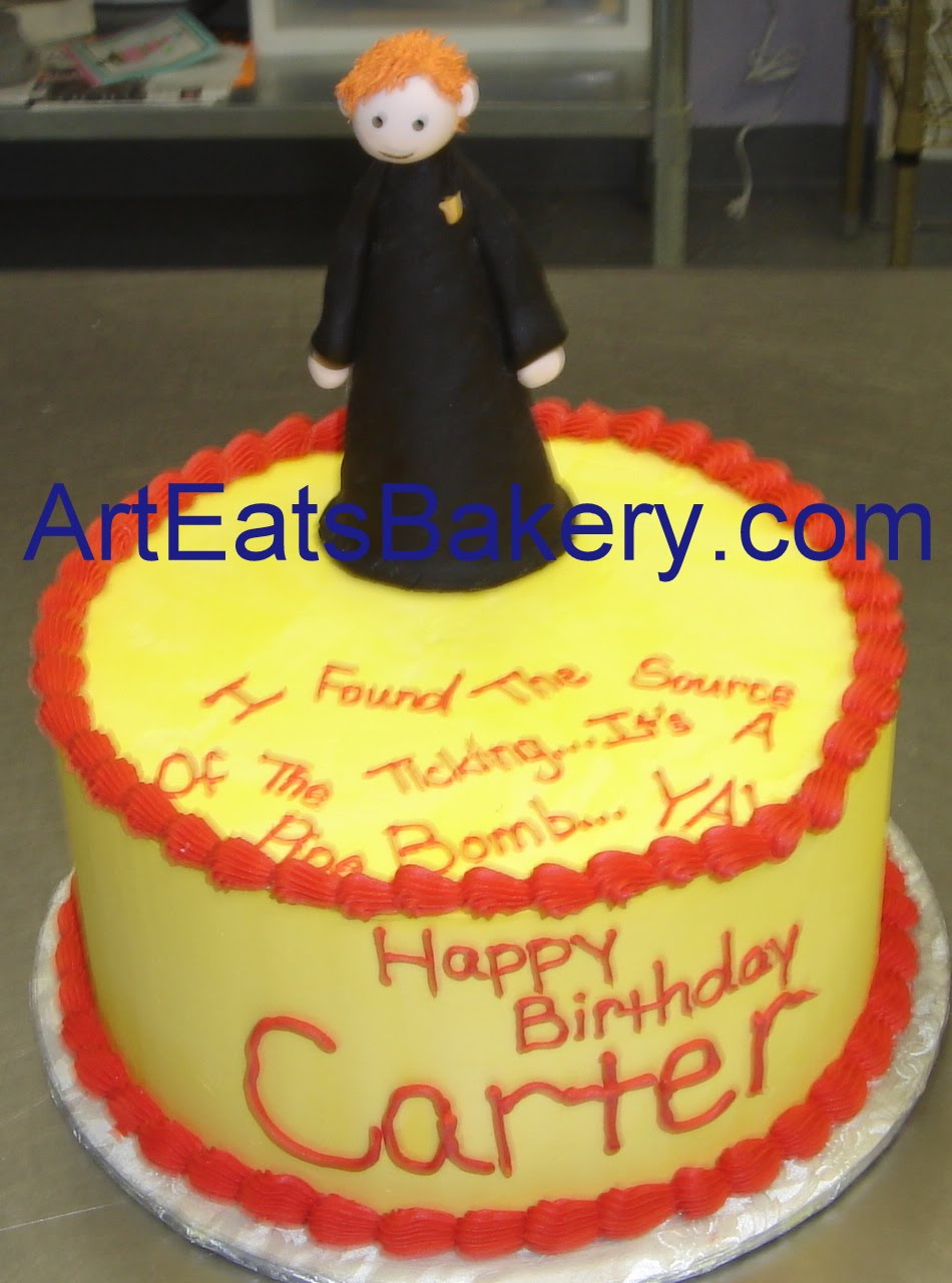 Birthday Cake For Ron : >Harry and Ron Potter Puppet pals custom twins birthday ...