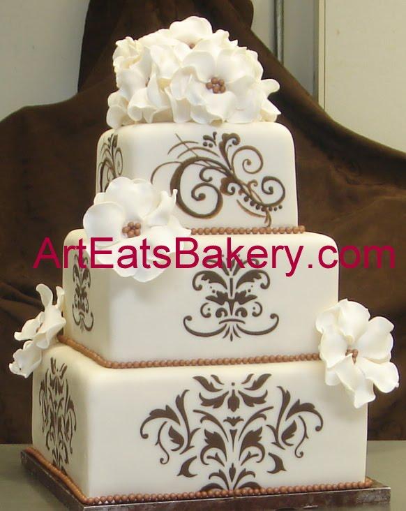 Square Design Birthday Cake : >Unique custom square wedding cake designs arteatsbakery
