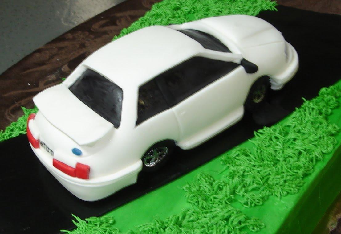 >1991 Ford mustang custom designed fondant car on butter ...