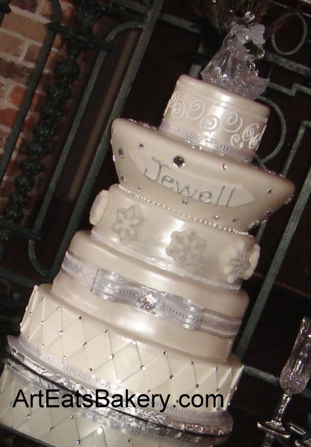 Gt Winter Themed Custom Wedding Cakes And Discount Coupon